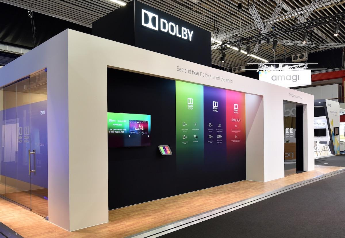 Dobly trade show kiosk at IBC2018